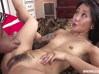 Asian Lady And Negro Male Pole - ANALDIN