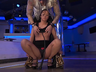 BDSM session connected with a perverse MILF brunette