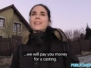Public Surrogate Spanish Student fucks for party cash