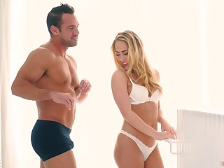 Sensual and graceful hottie Carter Cruise gives will not hear of head and rides a cock