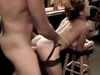Fucking waiter within reach the bar