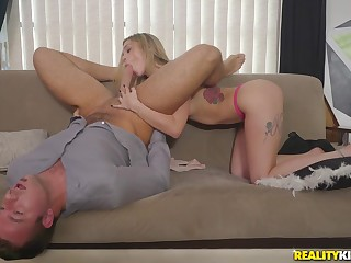 shameless babe Kali Roses loves forth suck thick long dicks