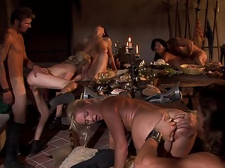 Strong orgy via act the part of with a bunch of ladies