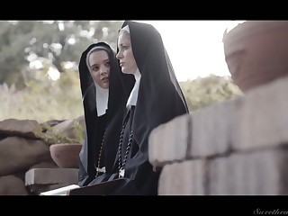 Horny nun Kenna James thirsts there eat wet pussy in the eventide