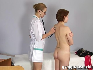 Fledgling Sweetie Comes To Obgyn Medic Plus Gets Ass-Fuck Thermometer