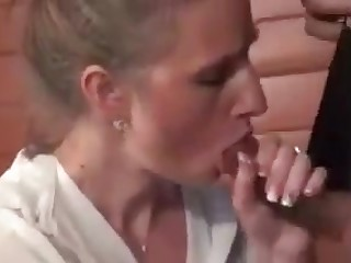 French MILF bourgeoise having anal sex with young panhandler
