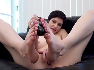 Cadey Mercury Dildo Foot Fetish