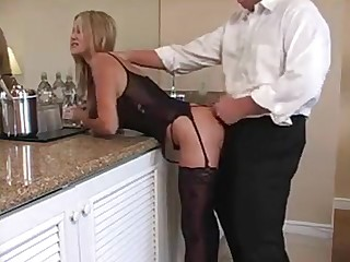 Real amateur housewife with beamy gut fucks her husband