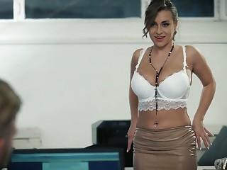 Stunning lady Jozephine Jackson jams her boobies while being fucked mish hard