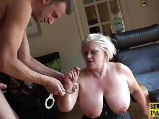 curvy british sub dominated with roughsex