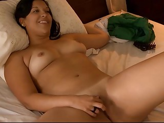 hot chubby brunette masturbates and House of Commons to camera