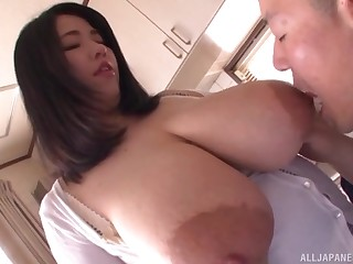 Amateur Asian with hefty tits, meshuga POV viva voce