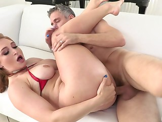 Sloppy cocksucking leads up to a brisk ass fucking