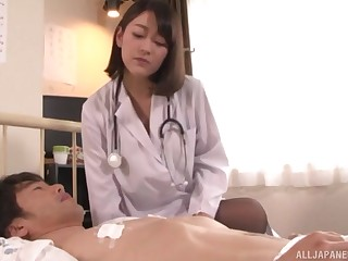 Nishino Shou adores doggy style after a blowjob with her patient