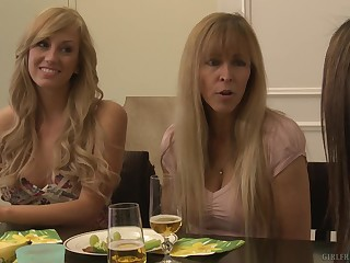 Gentle grown-up lesbian licking thither Brett Rossi and Raylene