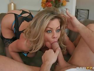 Blue take a gander at goddess enjoys dick in powerful XXX