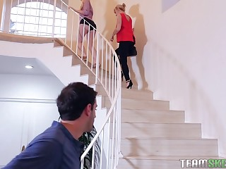 Darcie Belle and one more blonde inclusive want with regard to share hard shaft