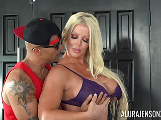 Alura Jenson craves for fat penis deep inside her shaved holes