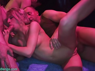 cute preposterous german girlfriends first rough bukkake swinger club fuck party experience