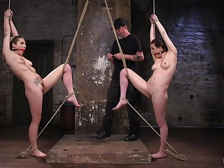Stunning Dahlia Sky is tied and she is waiting be fitting of BDSM diversion