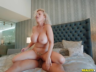 European milf suits her humid pussy with a BBC
