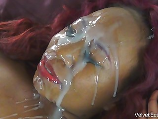 Black, Bitch, Chubby, Ebony, Facial, Homemade, Pov