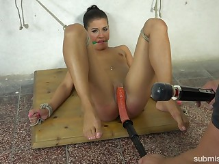 Submissive Eveline Stop enjoys sex toys while she is headed and horny