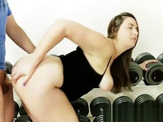Limber up Stepmom's Hot Wet Pussy approximately Gym