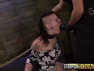 Filial whore gets crippled by a dominant couple