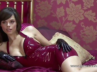 Marvelous amateur latex bitch added to her X-rated cleverage exposed in hotel
