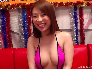 Sensual dick stroking and riding in cowgirl by lovable Hachino Tsubasa