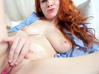 Observed only in pole masturbation of a sexy redhead