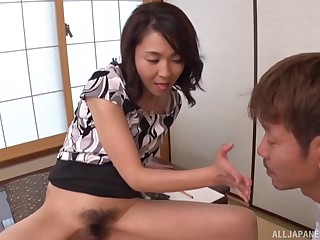 Asian model Shihori Endoh spreads her legs in the air twit and gets fucked