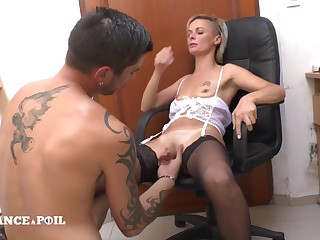 Dampen France A Poil - The Small Titted Teacher In Stocking