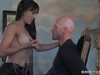 Small tits Cytherea drops on her knees to be covered with cum