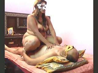 Chubby chubby breasted whore on touching mask is so into riding strong cock