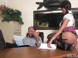 Sexy feel nostalgia for gets an A graduate for fucking the brush old professor