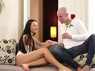 Brunette, Babe, Boyfriend, Cumshot, Cum, Couple, Erotic, Girlfriend, Pussy, Shaved pussy, Young