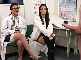 Sissified scientists are in for a tasty sexual surprise