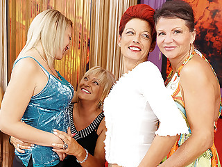 Yoke Superannuated Increased by Young Lesbians Having A Party On Bed - MatureNL