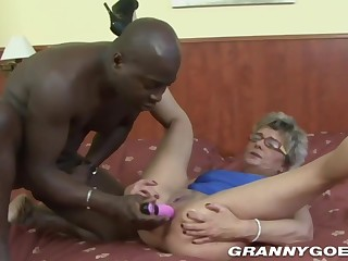 Granny Gets Butt Humped Coupled with Toyed
